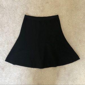 Theory black wool blend elastic waist skirt Sz P